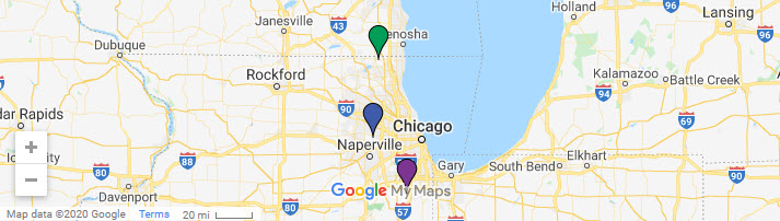 Click for a Google map of all 3 locations